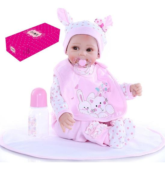 Decdeal Reborn - Muñeca De Bebé (53 Cm), Diseño De Cara Dulc