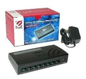 Switch Encore 8 Puertos Enh908-nwy - Compacto Y Silencioso
