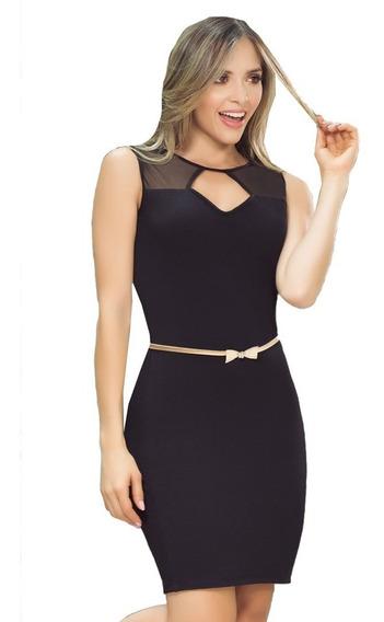 Vestido Oficina Para Dama Elegante Sencillo B.c