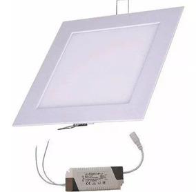 15 Plafon Painel Luminaria Led Embutir Quadrado Sanca 12w