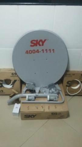 Antena Ku 60cm + Receptor Claro Tv Livre Sem Mensalidade