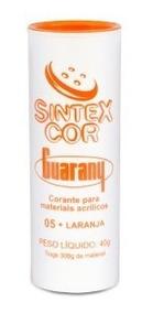 Corante Sintexcor Laranja Guarany P/ Acrílico Kit Com 6unid