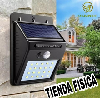 Lampara Solar Led Con Sensor De Movimiento, Exteriores Ip64