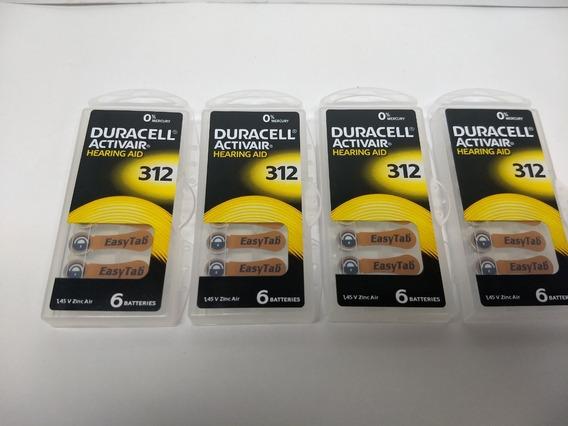24 Baterias De Aparelho Auditivo 312 Duracell Activair