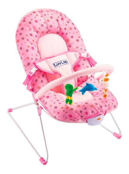 Cadeira Descanso Bebê Com Segurança Macia Vibra Som Inmetro