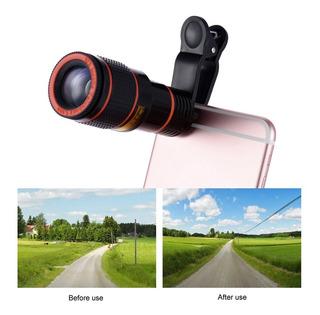 Lente Telescópica Zoom 8x Modelo Universal Clip Pra iPhone