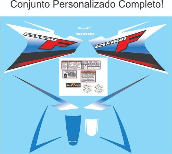 Adesivo Suzuki Gsx 650f Personalizado Azul 2011 Completo!