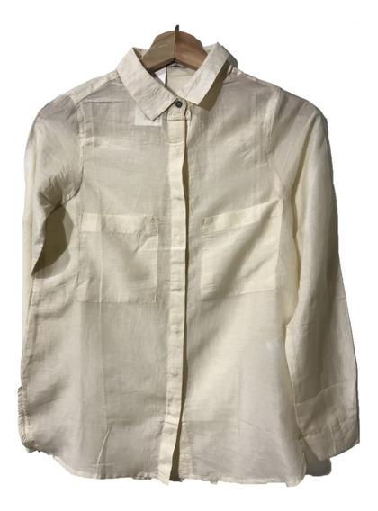 Camisa Mujer Blend Seda-algodon Big Star Crema Xs S M L Xl