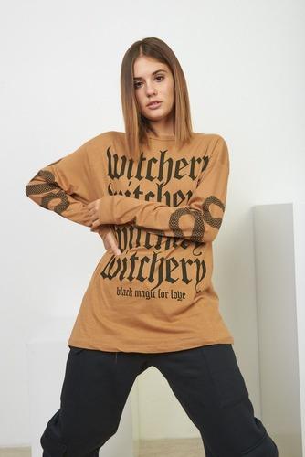 Remera Witchery Remeron Mnaga Larga Mujer 47street
