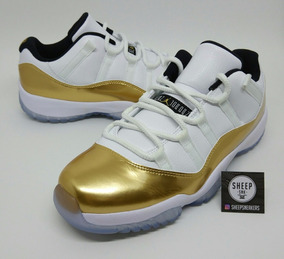 Tênis Nike Air Jordan 11 Retro Low Gold 217 - Nba Lebron