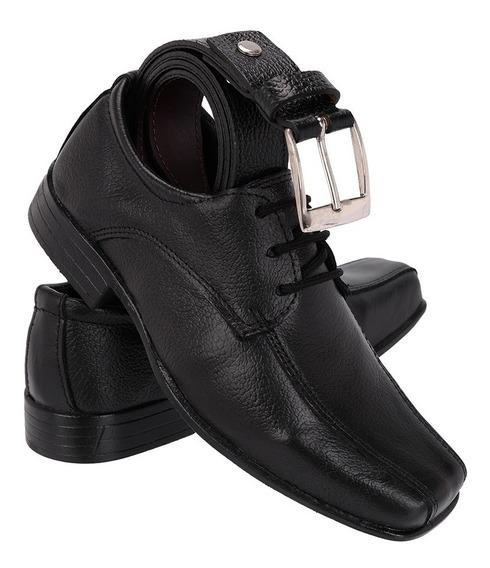Kit Infantil Sapato Com Cinto Em Couro Pronta Entrega