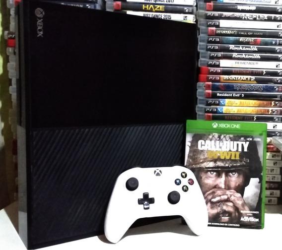 Xbox One 500gb Com Controle Sem Fio Completo Mais Jogo