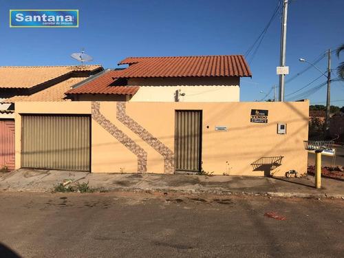 Casa Com 3 Dormitórios Sendo 1 Suite À Venda, 78 M² Por R$ 170.000 - Santa Clara - Caldas Novas/go - Ca0164