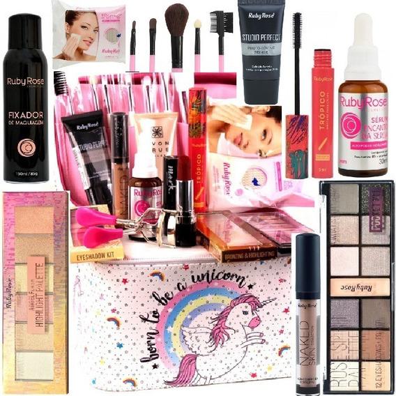 Maleta Maquiagem Profissional Completa Avon Jasmyne Rubyrose
