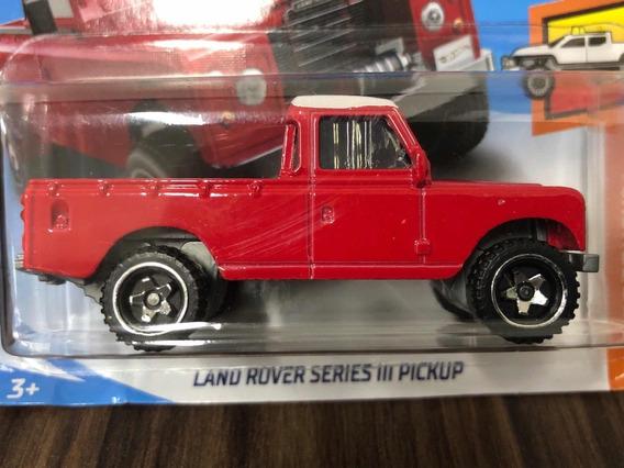 Hot Wheels Land Rover Series Iii Pickup Defender - Vermelha