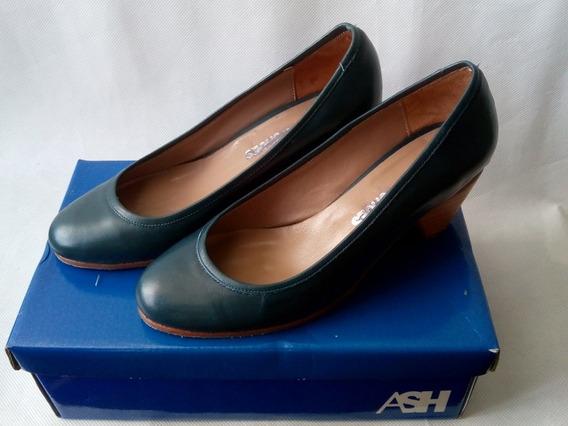 Zapatos Cuero Argentino Azules 37