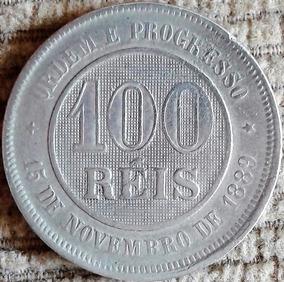 Arremate 100 Reis 1896 Rev Inclinado D - Fundo Linhado 1