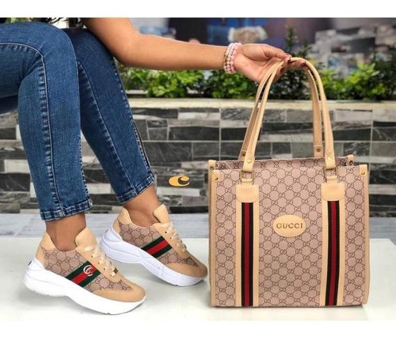 Zapatos Mujer Gucci + Bolso, Combo Zapatos, Deportivos