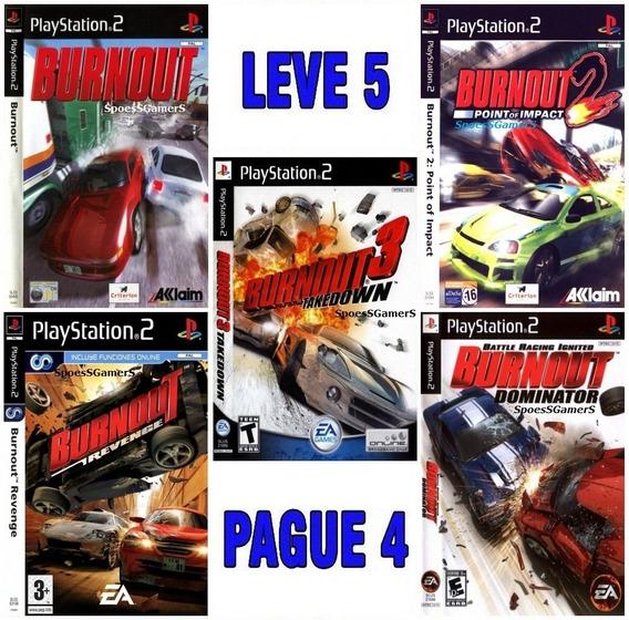 Burnout Collection (5 Jogos) Ps2 Desbloqueado Patch