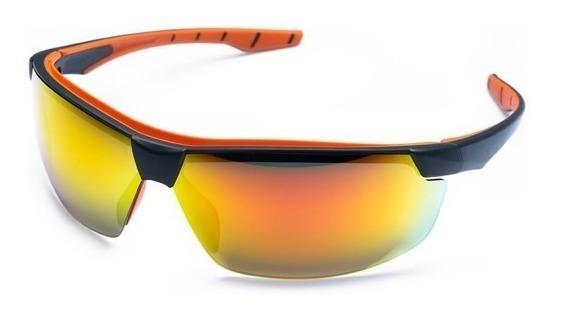 Oculos De Sol Espelhado Vermelho Proteção Uv Ultravioleta
