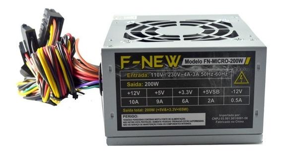 Fonte - Desktop 220w Sff Mini Atx 24 Pinos - Fn-micro-200w