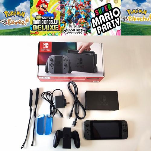 Nintendo Switch Con 5 Juegos Digitales