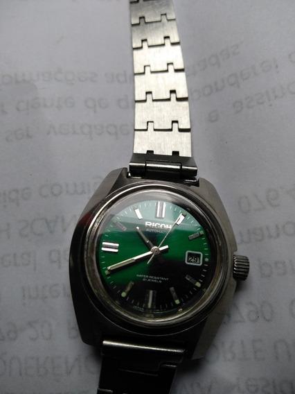Relógio Ricoh Antigo Funcionando Feminino N Tissot Omega Sil