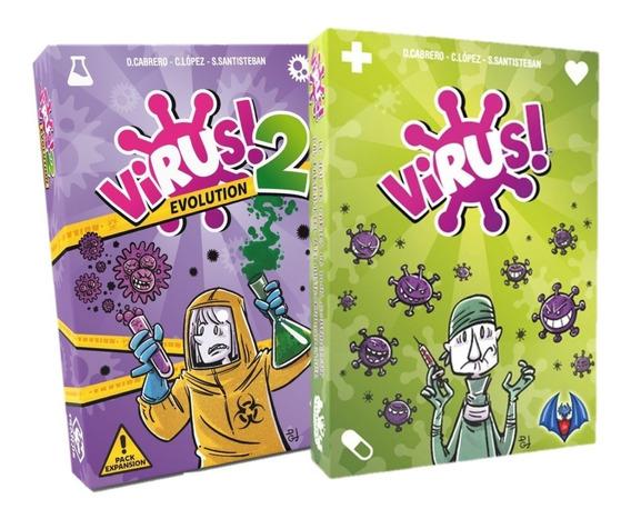 Combo Virus! + Virus 2 Evolution Juegos De Mesa Dragón Azul