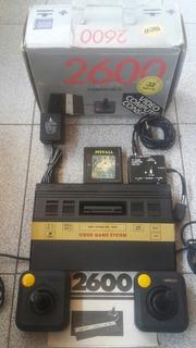 Atari 2600 Jr Completo En Su Caja, Manual, Controles, Cables