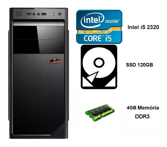Pc Intel Core I5 4gb Mem / Ssd 120gb / Frete Gratis