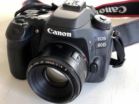 Canon 80d Com Lente 50mm