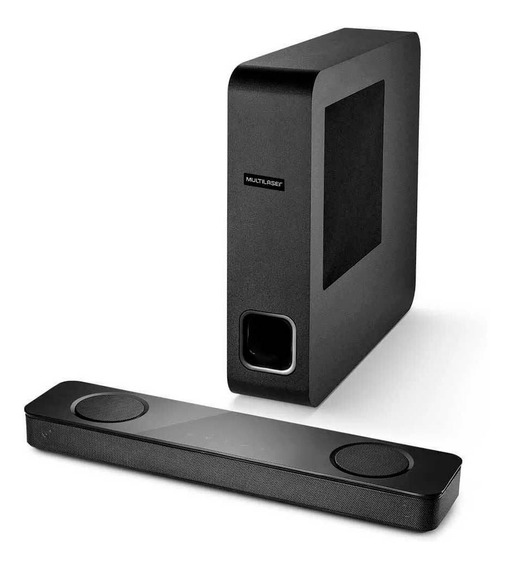 Caixa De Som Mini Soundbar Bluetooth 120w Rms Preto Multilas