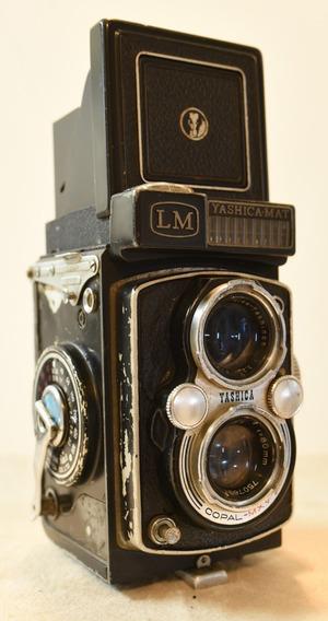 Câmera Tlr Antiga Vintage Yashica Mat Lm