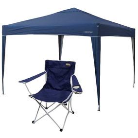 Gazebo Articulado Nautika Trixx + Cadeira Nautika Cor: Azul