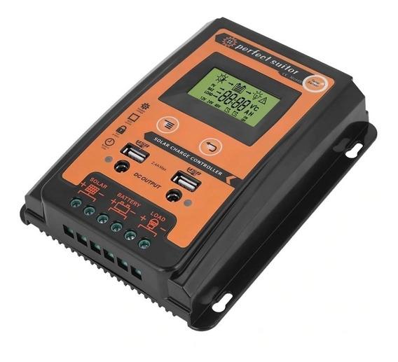 Controlador Carga Solar 70a Pwm 12/24v Com 3 Estagio Carga
