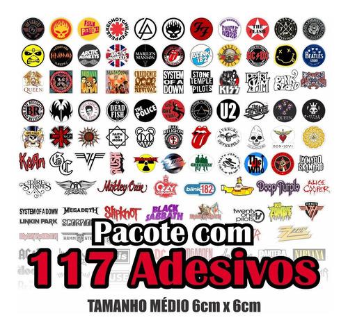 Kit Adesivos Rock Kiss Nirvana Offspring 117un.