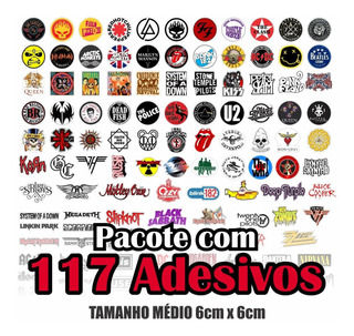 Adesivos Banda De Rock 117un.