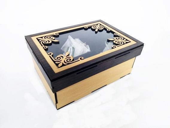 Caja De Té C/ 6 Divisiones. Diseños Originales Y Divertidos!