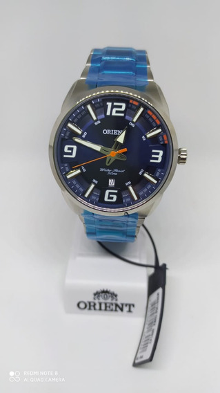 Relógio Orient Masculino Mbss1359 D2sx Prata Azul