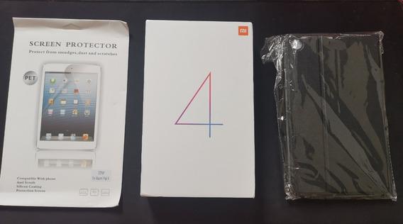Mi Pad 4 Xiaomi 64gb Versão 4g Pt-br + Película + Capa Promoção