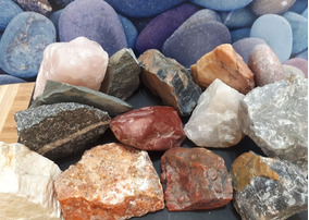 Lote 4,5kg Rochas Minerais Pedras Cristais Naturais Variados