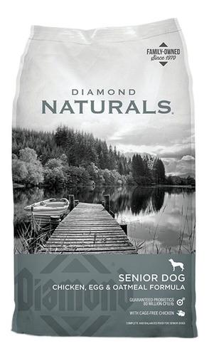 Imagen 1 de 1 de Alimento Diamond Naturals para perro senior de raza pequeña/mediana/grande sabor pollo/huevo/avena en bolsa de 35lb