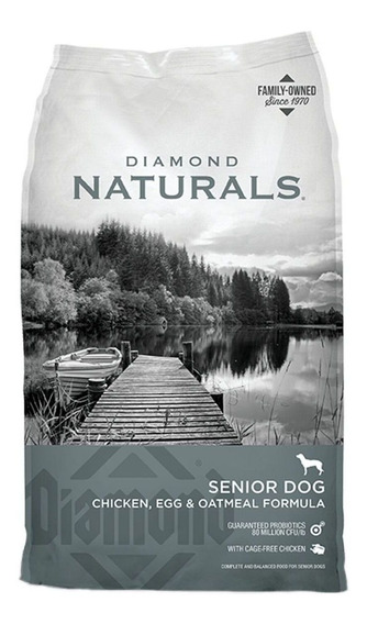 Alimento Diamond Naturals perro senior pollo/huevo/avena 15.87kg