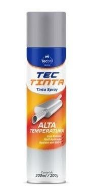 Tinta Alta Temperatura 300ml Aluminio Tecpro