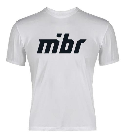 Camiseta Csgo Time Mibr Casual Fan Branco Malha Pv Pronta Entrega!