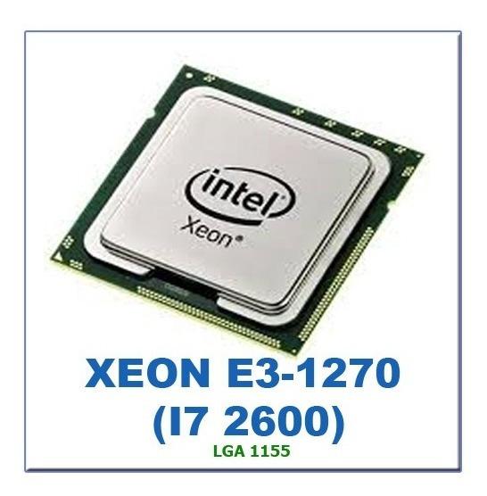 Intel Xeon E3-1270 Lga 1155 Equivalente Core I7 2600 I7 3770