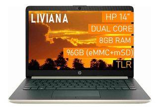 Notebook Hp Stream Plus / 8gb + 128gb / Liviana 7hs 14d Cuot