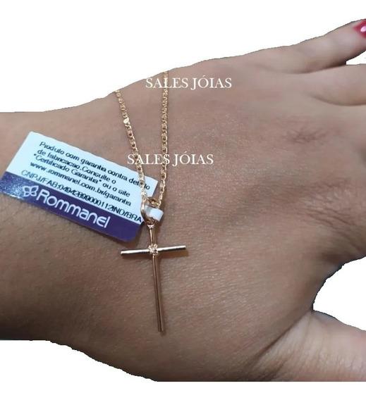 Cordão 42 Cm Feminino + Crucifixo Rommanel 530335 540180