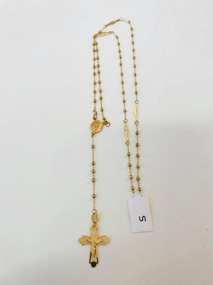 Rosario Oro Amarillo 10k Virgen De Guadalupe Cruz Cristo
