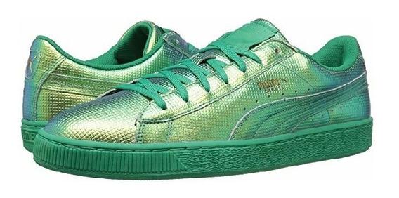 Tenis Puma Basket Classic Holographic Verdes Del #23